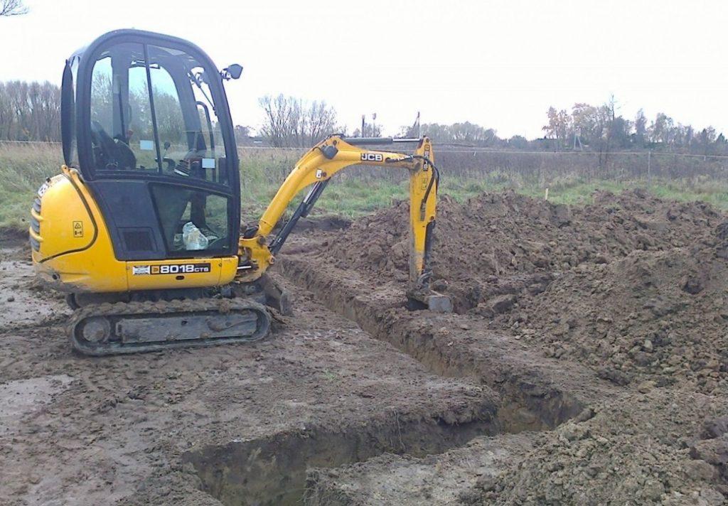 Сколько стоит выкопать траншею?